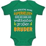 Shirtracer Geschwisterliebe Baby - Ich Habe den weltbesten großen Bruder - 1-3 Monate - Grün - BZ10 - Baby Body Kurzarm Jungen Mädchen