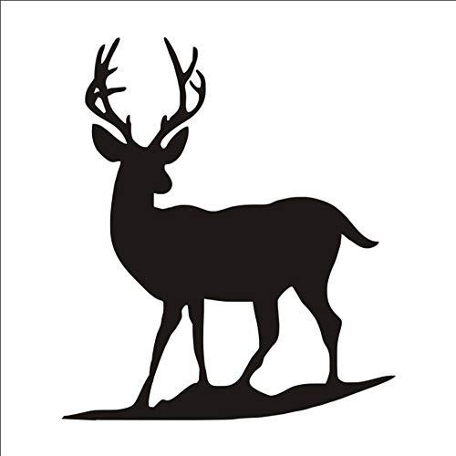 Lone Deer Wandaufkleber Cartoon Deer Blick Auf Die Richtung Cute Wall Decal For Home Decoration