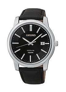 Seiko SGEH19P1 - Reloj de pulsera hombre, piel, color negro de Seiko