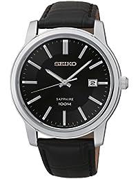 Seiko SGEH19P1 - Reloj de pulsera hombre, piel, color negro