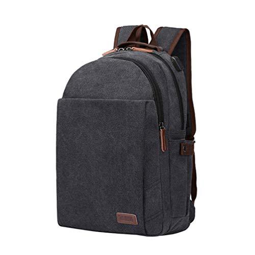 (CHENYANG Canvas Rucksack Casual Unisex Backpack Schulrucksack Laptoptasche Vintage Reise Daypack)