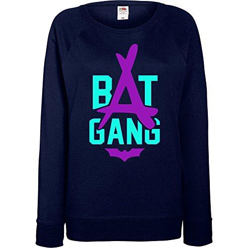 TRVPPY - Sweat Pull, modèle Kid Ink Tha Alumni Bat Gang - Femme, différentes tailles et couleurs Bleu Marine