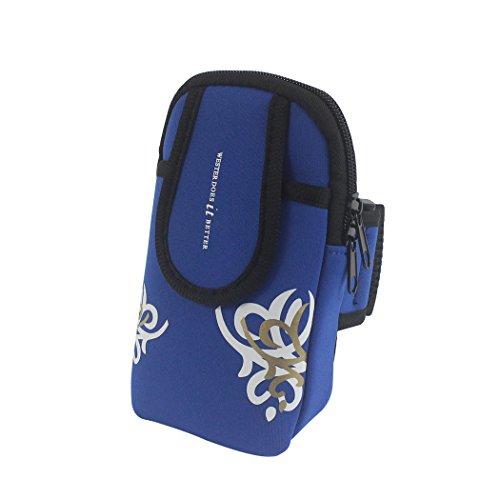 zoohot Running Gürtel, Herren Damen Fitness Gürtel & Armband Handy Tasche, Geldbeutel, Karte Tasche, Schrank Aufbewahrungstasche Large-Blue