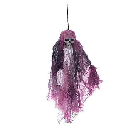 BESTOYARD Halloween Ghost Gaze hängende Schädel lila Spukhaus Horror Szene Requisiten