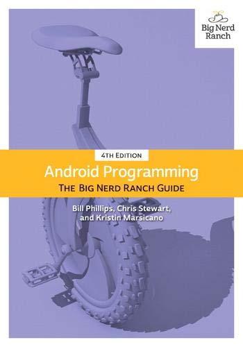 Preisvergleich Produktbild Android Programming: The Big Nerd Ranch Guide (Big Nerd Ranch Guides)