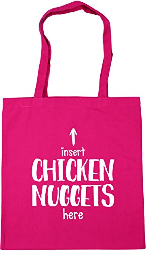 HippoWarehouse Insert chicken nuggets here Tote Shopping Gym Beach Bag 42cm x38cm, 10 litres