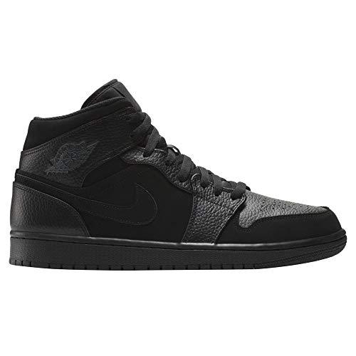 watch 9681b a39bb Nike Air Jordan 1 Mid, Zapatillas de Deporte para Hombre, Dk Smoke Grey