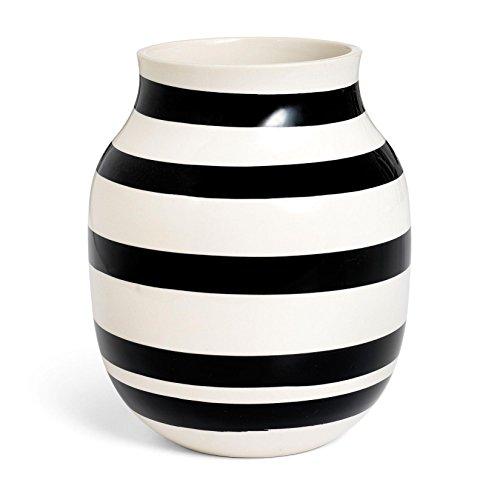 Kähler Design Vase - Omaggio - Keramik - Schwarz (20cm)
