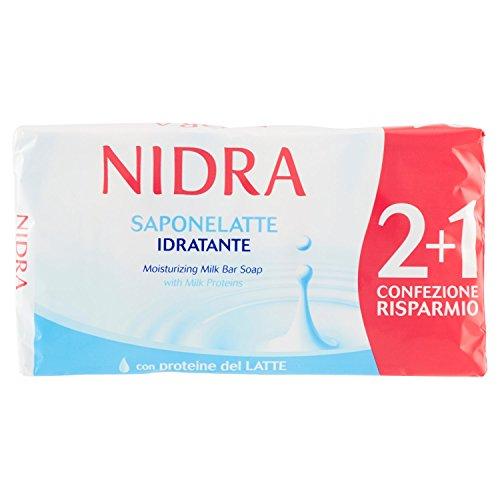 Palmolive Nidra Sapone Latte Idratante Arricchito con Proteine del Latte 1 Confezione da 3 Pezzi