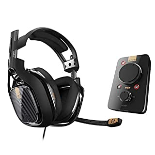 ASTRO Gaming A40 TR Wired Headset + MixAmp Pro TR with Dolby 7.1 Surround Sound, Compatible with PlayStation 4, PC, Mac, Black