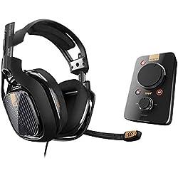 ASTRO Gaming, casque filaire A40 TR + MixAmp Pro TR 3e Génération avec son surround Dolby 7.1 - Compatible Playstation 4, PC, Mac - Noir