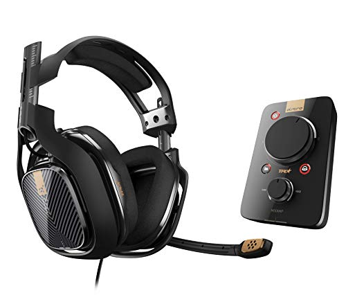 ASTRO Gaming A40 TR Headset (kabelgebunden) + MixAmp Pro TR (3. Generation) Adapter (mit Dolby 7.1 Surround Sound, kompatibel mit PlayStation 4, PC, Mac) schwarz Generation Headphone Jack