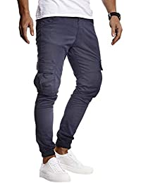 LEIF NELSON Herren Jeans Chino Cargo Hose Stretch Jeanshosen Jogger  Chinohose Freizeithose Stretch Slim Fit LN9285 c910fb92c7