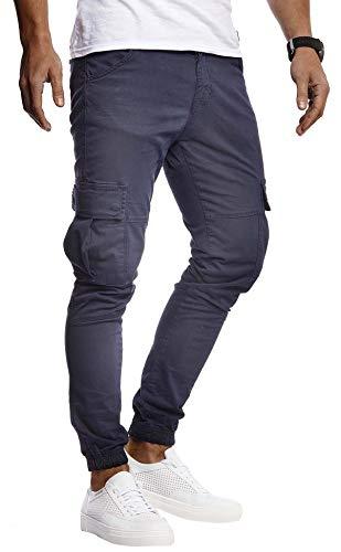 Leif Nelson Herren Hose Jeans Stretch Jeanshose Chino Cargo Chinohose Jogger Freizeithose Stretch Slim Fit LN9285; W29L32, Blau