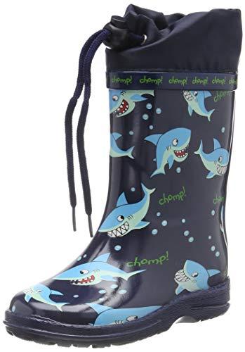 Beck Sharks, Botas de Agua para Niños, Azul Dunkelblau 05, 26 EU