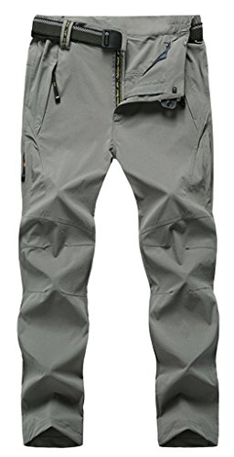 Geval Windproof Outdoor Men Relaxed Fit randonnée Pantalons Séchage rapide Gris clair