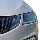 P044 | Headlights Design Stripes | Scheinwerferfolie | Verschiedene Farben | Folienstreifen | 3 Stk. je 7,5 mm x 900 mm (Karminrot)