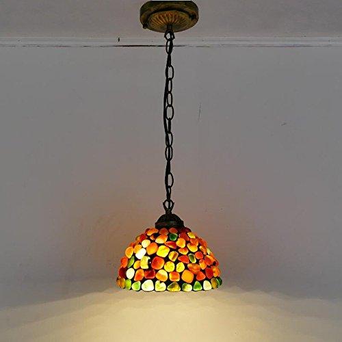 Tiffany Glas Club Korridor Decke Pendelleuchte Schlafzimmer Veranda Treppe Fall Kette Hängeleuchten Retro Bar COunter Balkon Flur Anhänger Leuchten (A-20cm) (Glas-decke-anhänger)