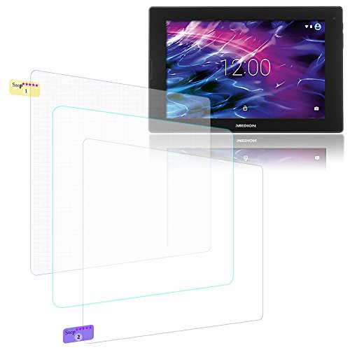 UC-Express Bildschirmschutz-Folie Medion Lifetab P10356 Schutzfolie 3X klar Universal Folie