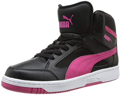 Puma Rebound v.2 Hi Unisex-Erwachsene Sneakers Schwarz (black-fuchsia purple 06)