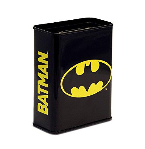 Suono e abito 6820526000salvadanaio con motivo Batman, Metallo, Nero, 9.0x 4.5x 11.5cm
