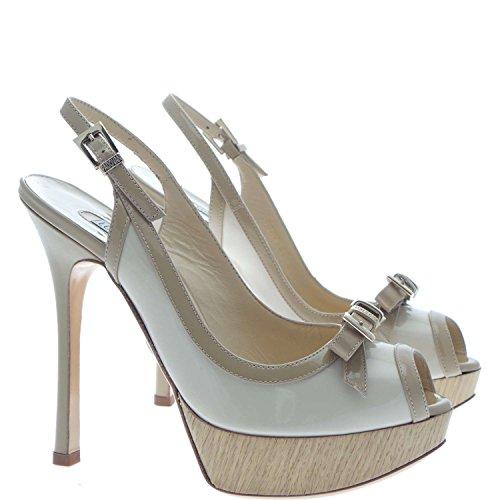 Luciano Padovan RYTCETQR12Q025 Sandalo Gioiello Donna 100% Pelle Beige Beige 35
