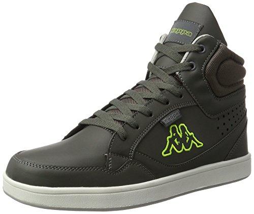 Kappa Herren Forward Hohe Sneaker, Grau (1333 Anthra/Lime), 43 EU