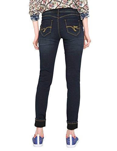 Desigual Damen Skinny Jeans Denim_second Skin Blau (Denim Dark Blue 5008)