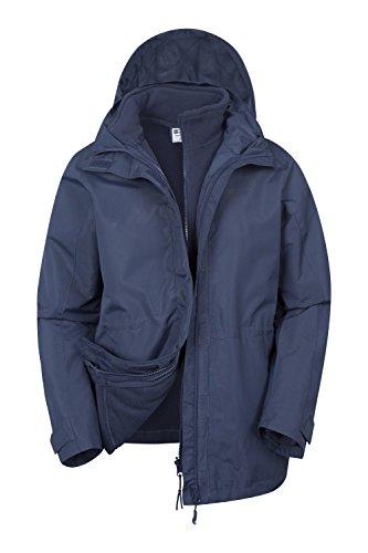 Mountain Warehouse Veste Femme Etanche 3 en 1 Intérieur Polaire détachable Fell Bleu Marine
