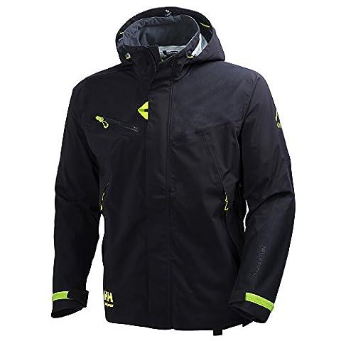 Helly Hansen Workwear Shell Jacke Magni, 3XL / S, 1 Stück, schwarz / grün, 34-071161-990-3XL
