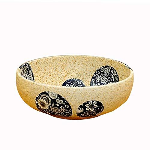 Hizljj bagno vessel sink artistico, round moderno bacino di ceramica di lavaggio ciotola hotel clubhouse contatore lavabo - rotonda creativa dipinta a mano lavabo