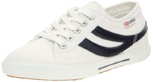Superga 2951 COTU, Baskets mode mixte adulte Blanc/bleu marine