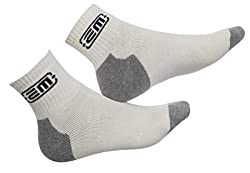 EM CRICKET ANKLE SOCKS CREAM/GREY FREE SIZE