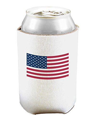 Amerika-Flagge – Marihuana-Blatt Bierdosen-Kühler-Halter, Weiß