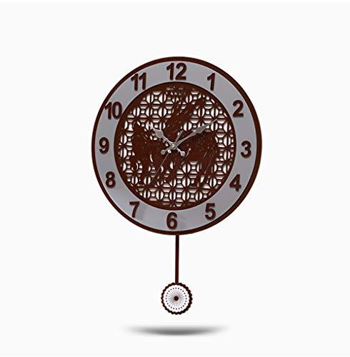 ZGYQGOO Reloj Pared silencioso Estilo Chino Hecho