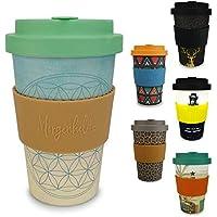 Morgenheld ☀ Vaso de bambú moderno | vaso para llevar ecológico | vaso para café sostenible de diseño moderno |capacidad total 400 ml