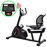 Festnight Programmable Recumbent Exercise Bike 10 kg Home Gym Fitness Training Exercise