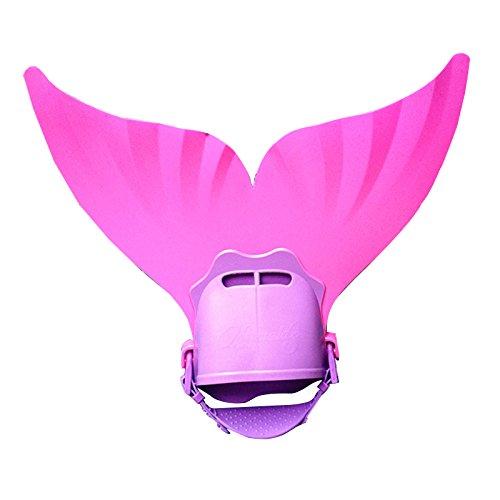 Mono-Schwimm-/Taucher-/Schwanzflosse für Kinder, Meerjungfrau-Design, fürs Schwimmtraining geeignet Einheitsgröße rose