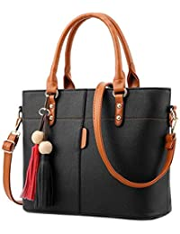 Shevanna Women's PU Leather Hand Bags (AB-49, Black)