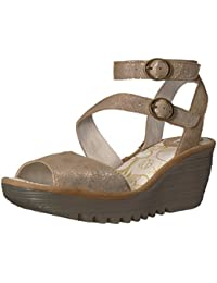 Amazon.fr   4 - 7 cm - Or   Sandales   Chaussures femme   Chaussures ... ae2a5a47653c