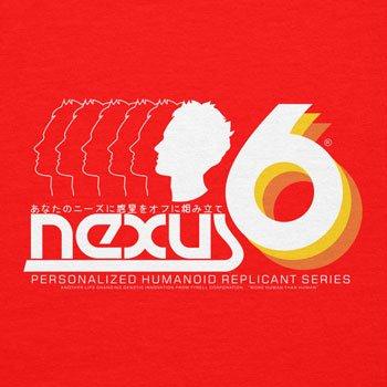 NERDO - Nexus 6 Personalized Humanoid Replicant Series - Damen T-Shirt Rot