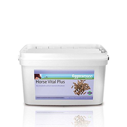 Eggersmann Horse Vital Plus - Mineralfuttermittel für Pferde Aller Art - Vitaminreiches Mineralfutter - 10 kg Eimer
