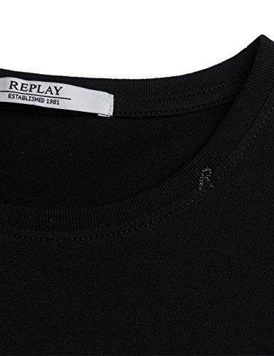 REPLAY T-Shirt Donna Nero (Black 98)