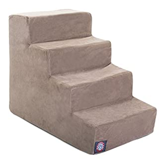 4 step stone tan suede pet stairs by products in neutral tone 4 Step Stone Tan Suede Pet Stairs By Products In Neutral Tone 41n6vb2E6oL