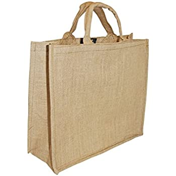 e167ad5993b0d Hessian Jute Bag Large Strong Grocery Shopping Household Storage Water  Resistant 34 X 40 X 18 cm (HXWXD)