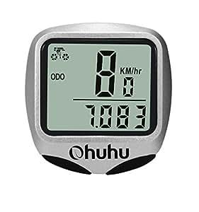 Ohuhu® Ciclo Computer Digitale Wireless Impermeabile per Bici, Contachilometri Display LCD con Retroilluminazione, Multiuso