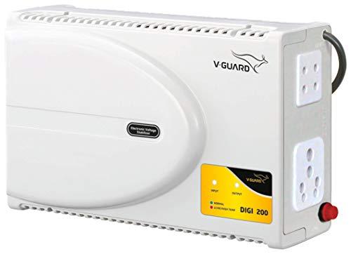 Renewed  V Guard DIGI 200 Voltage Stabilizer for Television  Grey