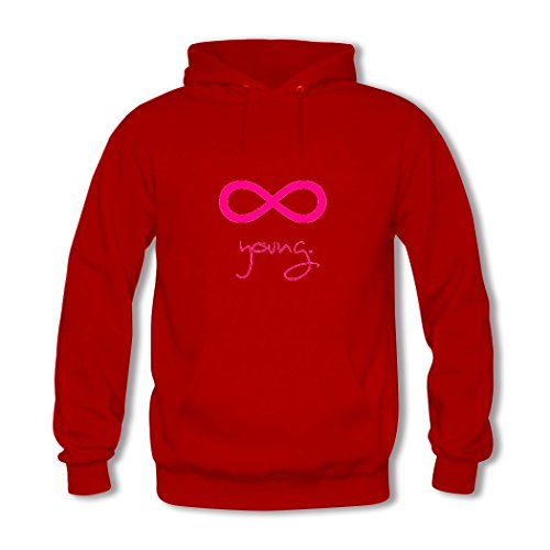 HGLee Printed DIY Custom Infinite Young Women's Hoodie Hooded Sweatshirt Red--2