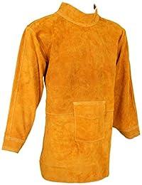 Premium Qualit/ät Gelb 90 x 60 cm Schwei/ßersch/ürze Rind Spaltleder Schutzkleidung