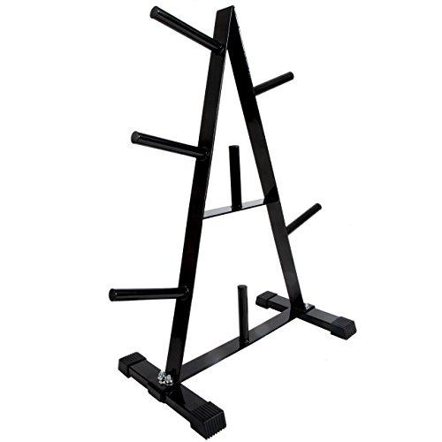ScSPORTS Hantelscheibenständer, Gewichtsständer, mit 30 mm Scheibenaufnahme, bis 250 kg, schwarz